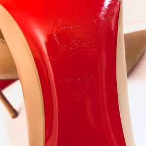 Christian Louboutin Shoes - Louboutin DECOLTISH 85 Nude Leather Pump